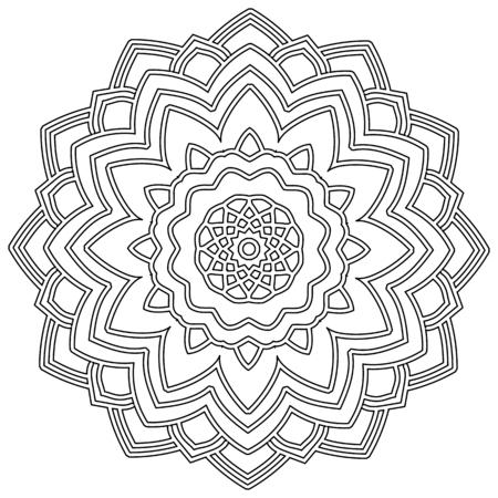 Dibujado a mano garabatos florales zentangle estilo tribal de libro para colorear para adultos. ilustración vectorial eps 10 para su diseño.