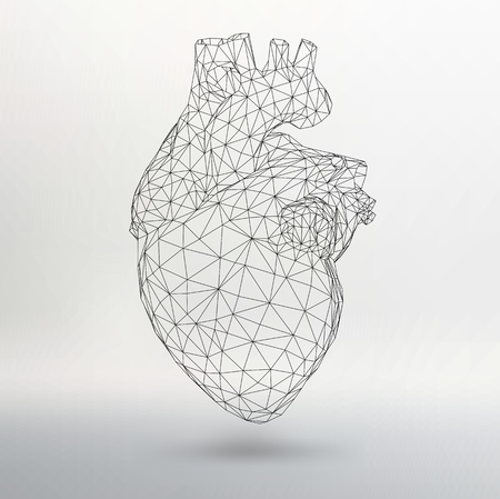 Creative concept Background of the human heart. Vector Illustration eps 10 for your design