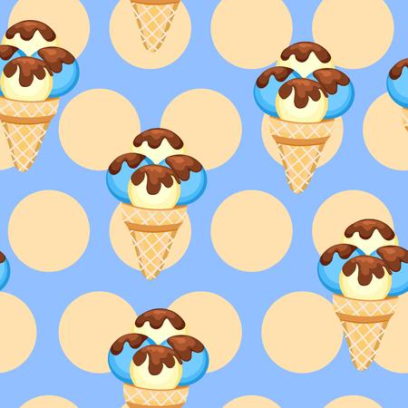 vanilla ice cream: Ice Cream vector illustration eps 10. Background of vanilla Ice Cream dessert Illustration