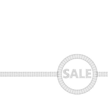 locution: Vector illustration of sale. Molecular lattice. Structural mesh of polygons on a white background