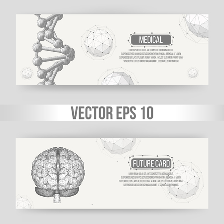 letterhead: Abstract Creative concept vector background of the human brain. Polygonal design style letterhead and brochure for business. Vector Illustration eps 10 for your design