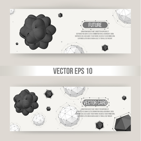 letterhead: Abstract Creative concept vector background of geometric shapes from triangular faces. Polygonal design style letterhead and brochure for business. EPS 10 vector illustration