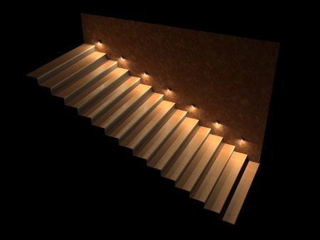 Stair Lighting Stock Photos And Images 123rf