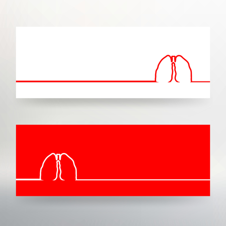 Creative concept Background of the human lungs. Vector Illustration eps 10 for your design Illustration
