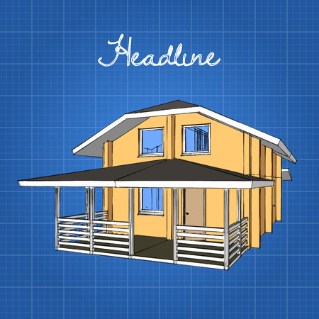 porch: A large wooden house with a porch and a gambrel roof