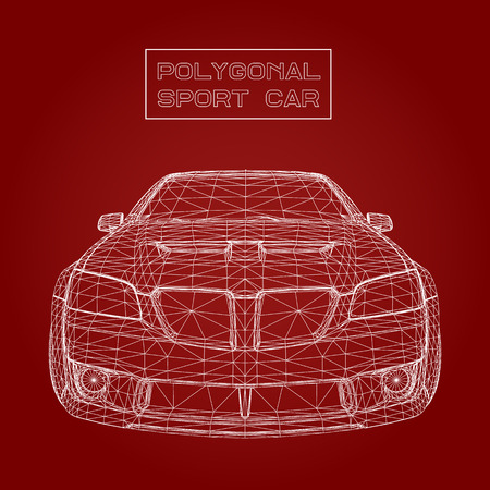 Abstract Creative concept vector background of 3d car model. Sports car Ilustrace
