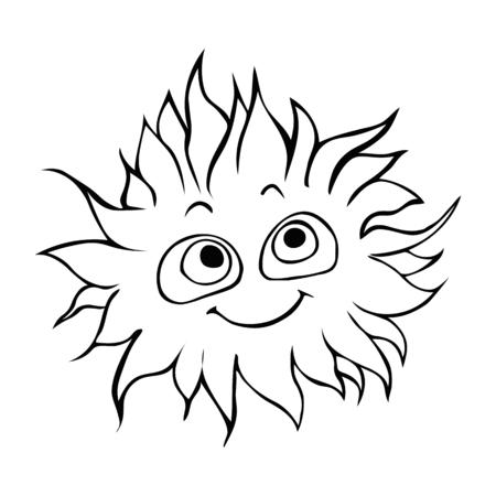 Good Little monster cartoon illustration.