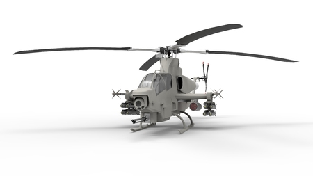 blackhawk helicopter: Modern Military helicopter standing on the ground. Illustration isolated on white background. 3d illustration.