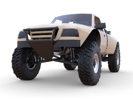 shocks: Most prepared sports race truck for the desert terrain. Front view