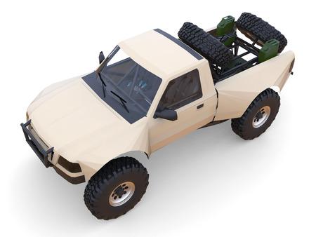shocks: Most prepared sports race truck for the desert terrain.
