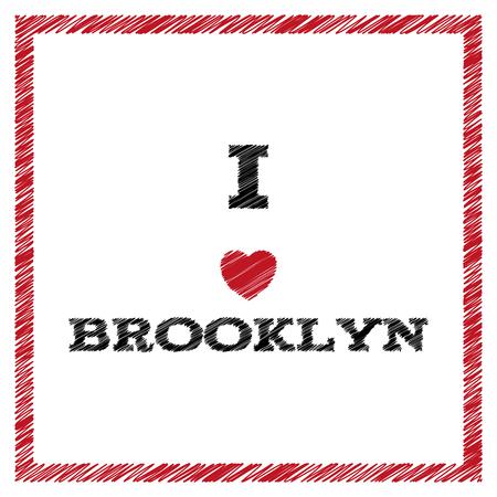 Slogan - I love Brooklyn.