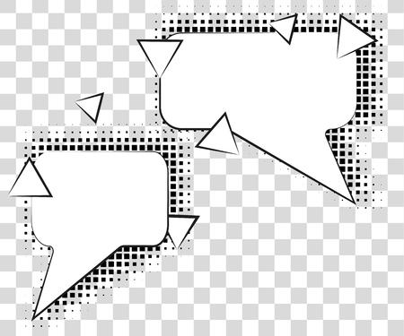 dinamita: Burbujas cómicas del discurso con las sombras del semitono.