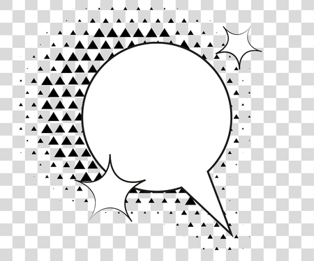 Comic speech bubbles with halftone triangles shadows. Vector illustration eps 10 isolated on background.