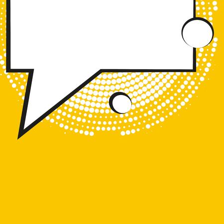 Comic tekstballonnen met halftoon schaduwen. Vector illustratie die op achtergrond Vector Illustratie