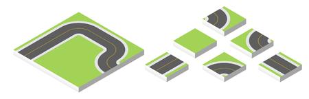 asphalt texture: Isometric road