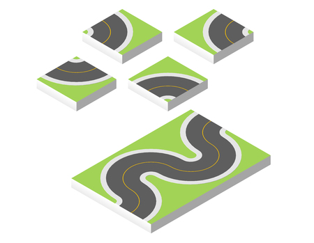 Isometric road