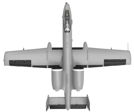 米国および国の小型軍用機。3 D イラスト。