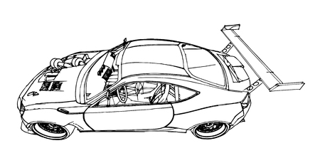 Sports car illustration.