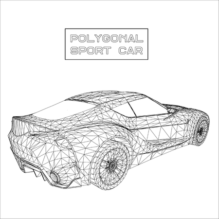 Abstract Creative concept vector background of 3d car model. Sports car Illustration