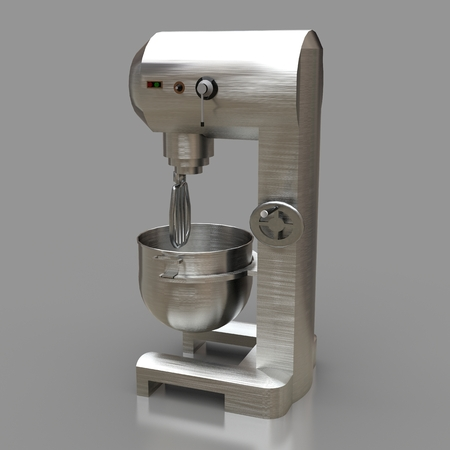 Professional mixer for restaurants, cafes and pastry shops. 3d renderings Stock Photo