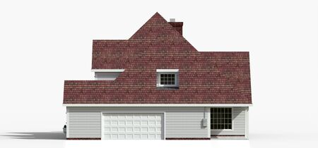 Render of a classic American country house. 3d illustration Standard-Bild - 128799441