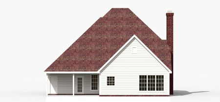 Render of a classic American country house. 3d illustration Standard-Bild - 128799443