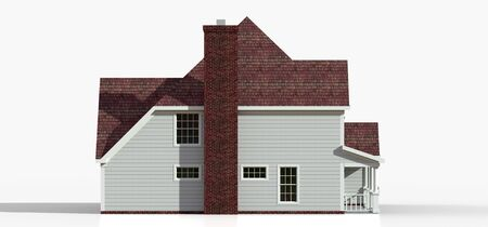 Render of a classic American country house. 3d illustration Standard-Bild - 128799449