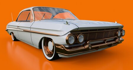 Set old American car in excellent condition. 3d rendering Stockfoto