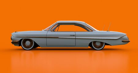 Old American car in excellent condition. 3d rendering