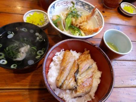 Osaka famous ancient eel rice 스톡 콘텐츠