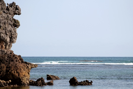 corner of the reef and ocean Stock Photo - 13439088