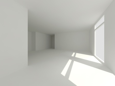 clear white room