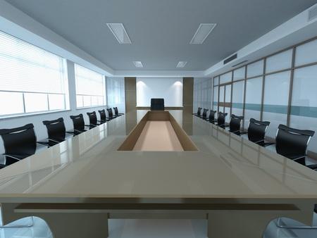 table boardroom: 3d modern office meeting room