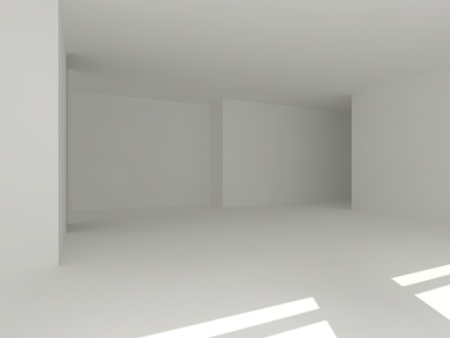 clear empty interior 3d photo