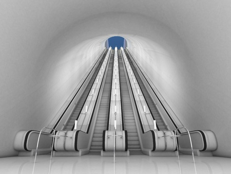 3d escalator photo