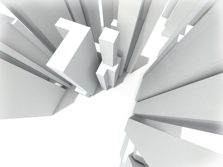 abstract modern city Stock Photo - 10250886