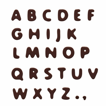 chocolate alphabet Stock Photo - 10227877