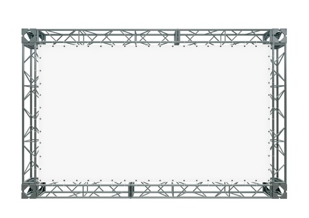 staging: banner on truss Stock Photo