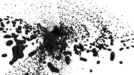 black splash Stock Photo