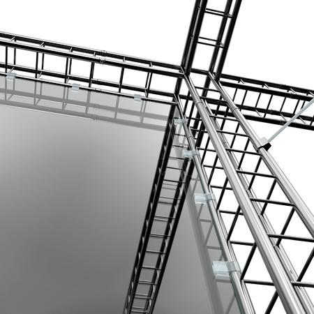 andamios: met�lica sistema de construcci�n Foto de archivo