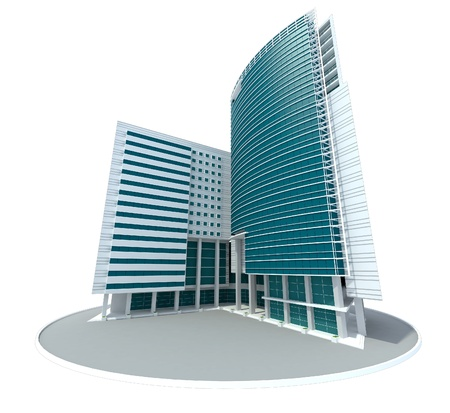 tall buildings: 3d modern building concept