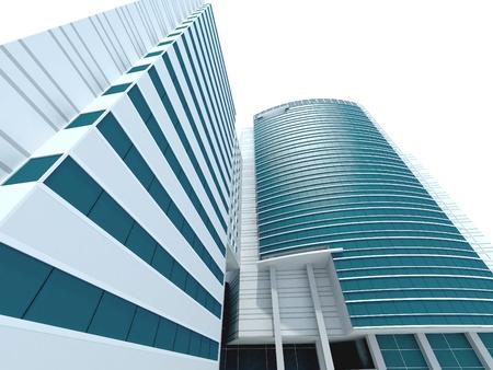 3d modern building concept