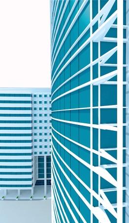 3d modern building concept Stock Photo - 10304897