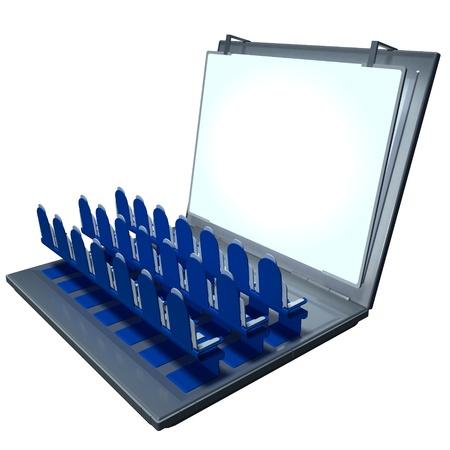 3d scene laptop presentation photo