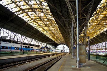 old railwaystation interior