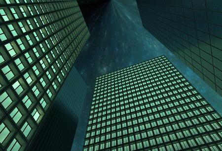 night city sky Stock Photo - 10417659