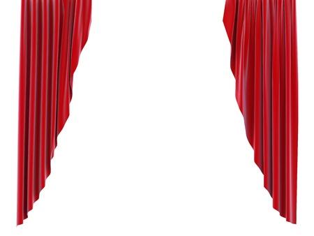 abertura: cortina roja