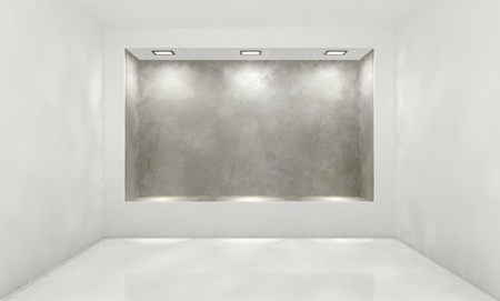 shined: shined wall in an abstract interior Stock Photo