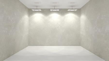 an exposition: muro shined in un interno astratto