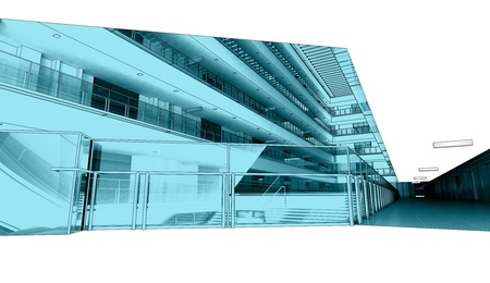 trade mall abstract interior photo